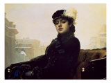 Portrait of an Unknown Woman Giclee Print by Ivan Nikolaevich Kramskoy