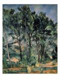 The Aqueduct (Montagne Sainte-Victoire Seen Through Trees) Giclée-Premiumdruck von Paul Cézanne
