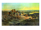 Salute of the Robe Trade Premium Giclée-tryk af Charles Marion Russell