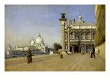Morning in Venice Premium Giclee Print by Jean-Baptiste-Camille Corot