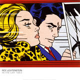 In the Car, c.1963 Plakater af Roy Lichtenstein