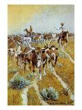 Texas Longhorns Premium Giclee Print by Olaf C. Seltzer