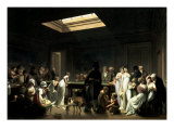 A Game of Billiards Premium Giclee Print by Louis-Leopold Boilly