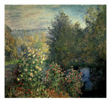 Quiet Corner in the Garden of Montgeron Gicl&#233;e-Druck von Claude Monet