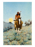 The Outlier 1909 Premium Giclee Print by Frederic Sackrider Remington