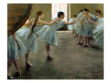 Dancer at Rehearsal Premium Giclee Print by Edgar Degas