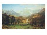 The Rocky Mountains, Lander's Peak Premium Giclee Print by Albert Bierstadt
