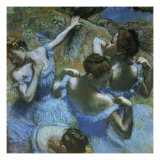Dancers in Blue Premium Giclee Print by Edgar Degas