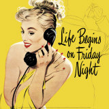 Life Begins on Friday Night Art