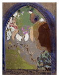 Woman's Silhoutte In A Window Prints by Odilon Redon