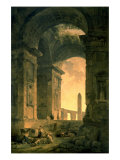 The Landscape with Obelisk Reproduction giclée Premium par Hubert Robert