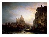 Venice at Night Premium Giclee Print by Alexej Bogoljubov