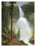 Nevada Falls Giclee-tryk i høj kvalitet af Albert Bierstadt
