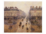 The Avenue De L'Opera, Paris, 1880 Giclee Print by Camille Pissarro