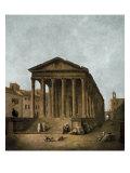 Temple of Augustus in Nimes, 1783 Poster par Hubert Robert