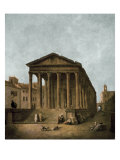 Temple of Augustus in Nimes, 1783 Poster by Hubert Robert