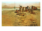 The Signal Fire, 1897 Premium Giclee Print by Charles Marion Russell
