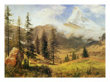 The Matterhorn Art by Albert Bierstadt