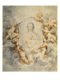 Image of the Virgin Portrayed with Angels Prints by Peter Paul Rubens