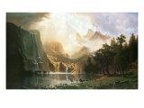Sierra Nevada i Californien Premium Giclée-tryk af Albert Bierstadt