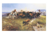 The Buffalo Hunt No. 39 Posters by Charles Marion Russell