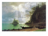 The Island Art by Albert Bierstadt