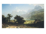 Lake Lucerne Prints by Albert Bierstadt