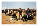 A Cavalryman's Breakfast on the Plains Giclee Print by Frederic Sackrider Remington