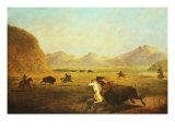 Buffalo Hunt Giclee Print by Alfred Jacob Miller