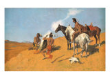 The Smoke Signal Premium Giclee Print by Frederic Sackrider Remington