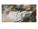 Shoshone Falls on the Snake River Premium Giclee Print by Thomas Moran
