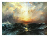Seascape Giclee Print by Thomas Moran
