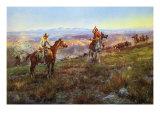 Toll Collectors Giclee-tryk i høj kvalitet af Charles Marion Russell