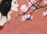 Camellia Art by Aline Bereau