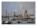 Dogana of Venice Premium Giclee Print by Francesco Guardi