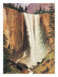 Yosemite Falls Posters by Albert Bierstadt
