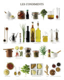 Condiments et assaisonnements Affiches