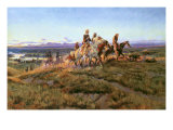 Men of the Open Range Giclee Print by Charles Marion Russell