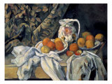 Still Life with a Curtain and Pitcher Prints by Paul Cézanne