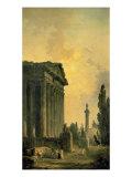 Temple Ruins Affiches par Hubert Robert