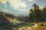 Mount Corcoran Giclee-tryk i høj kvalitet af Albert Bierstadt