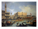 The Betrothal of the Venetian Doge to the Adriatic Sea Premium Giclee Print by  Canaletto