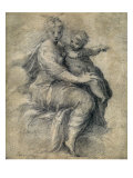 Madonna and Child On The Clouds Affischer av Parmigianino,