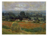 Haystack at Giverny Premium Giclée-tryk af Claude Monet