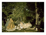 The Picnic Print by Claude Monet