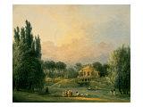 Hubert Robert - Italian Tempietto in a Park Speciální digitálně vytištěná reprodukce