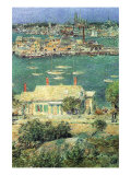 Port of Gloucester Print by Childe Hassam