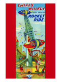 Twirly Whirly Rocket Ride Posters