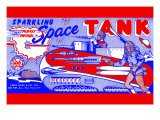 Planet Patrol Sparkling Space Tank Posters