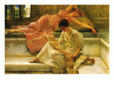 A Favorite Poet Print by Sir Lawrence Alma-Tadema